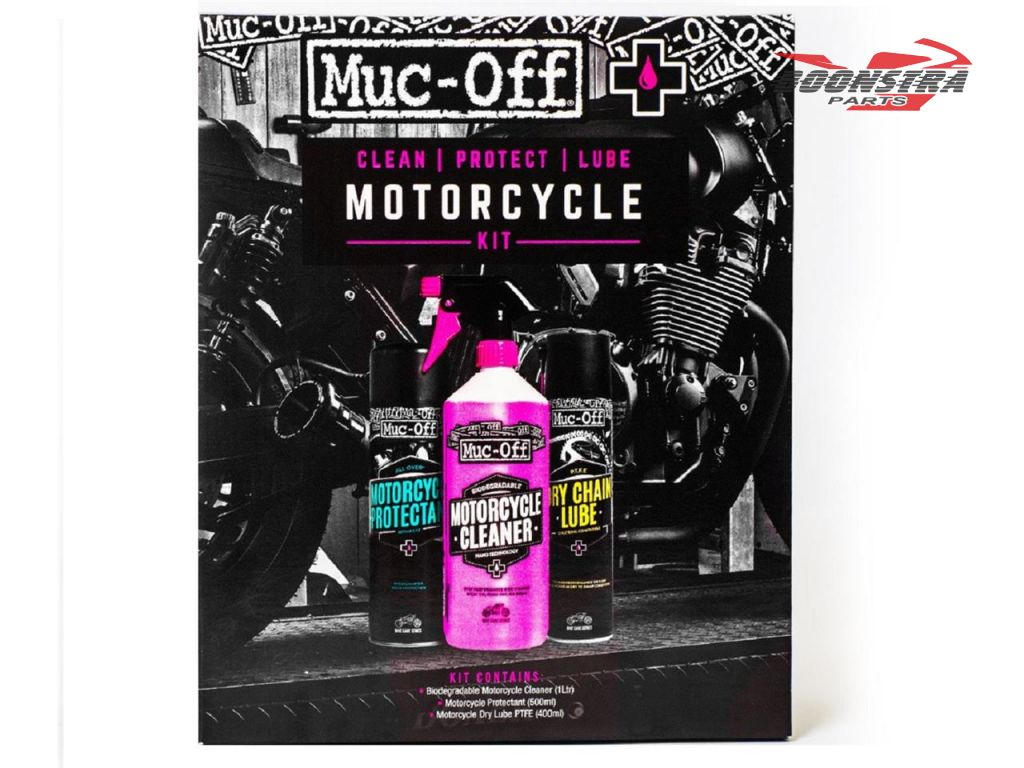 Muc-Off Cleaning Set Motorcycle Clean, Protect & Lube Kit