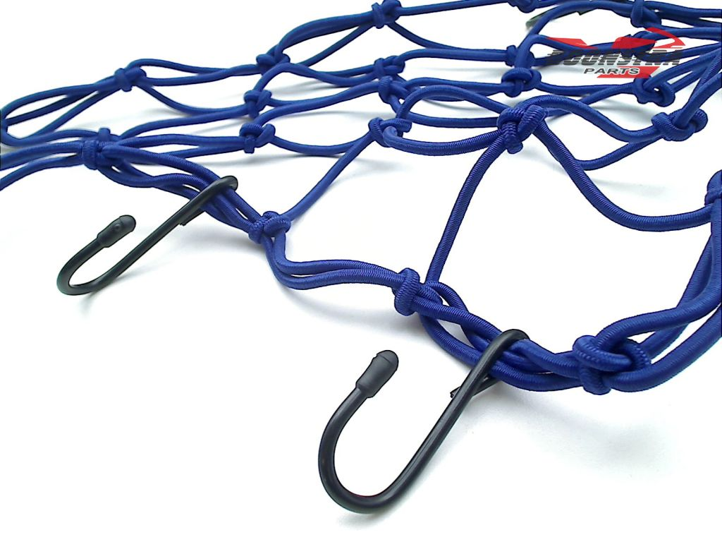 V-Parts Luggage Net Blue with 6 Hooks