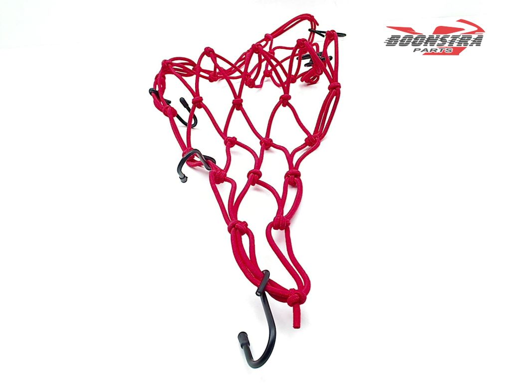 V-Parts Luggage Net Red with 6 Hooks