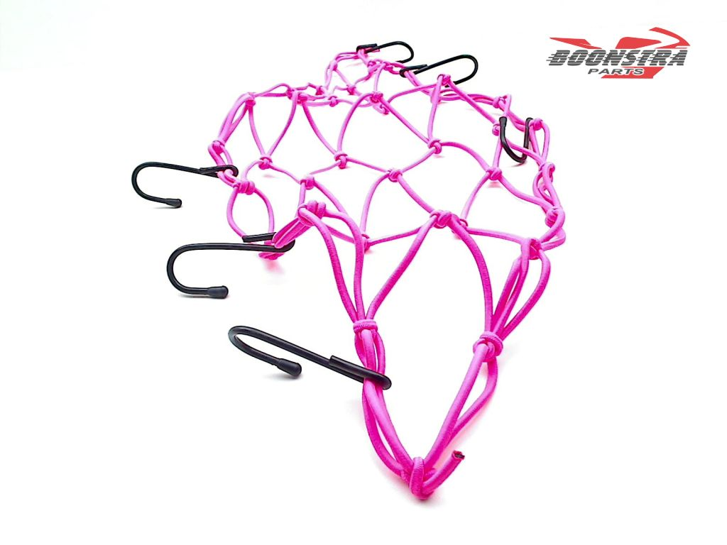 V-Parts Luggage Net Pink with 6 Hooks