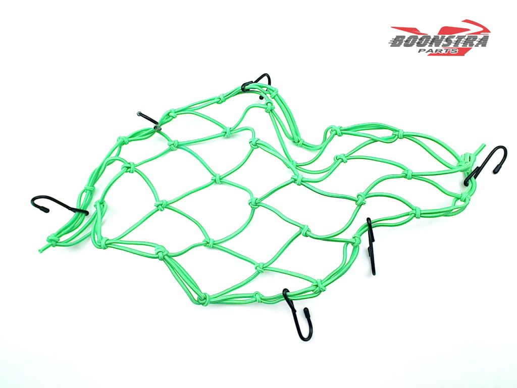 V-Parts Luggage Net Green with 6 Hooks
