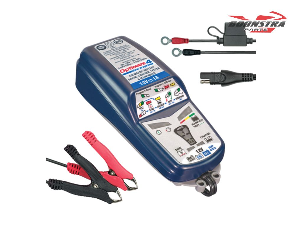 Tecmate Battery Charger Optimate 4 Dual Program 1A